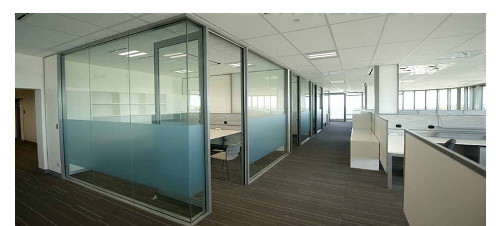 Framed Office Partition Glass